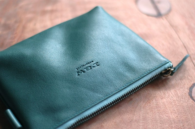 Leather Storage Bag - Green