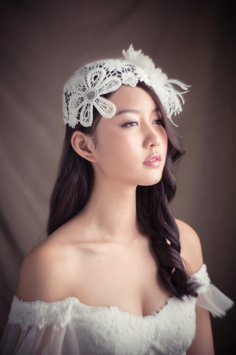 """Being of Love"" hat lace + silk peony flower / bridal headdress / hat"