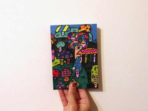 Drunk Bambi Fun Party Series Notebook 005 mushroom mushroom forest