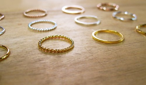 Silver Ring Ring Gold 4 kit co tail ring line twist ring line
