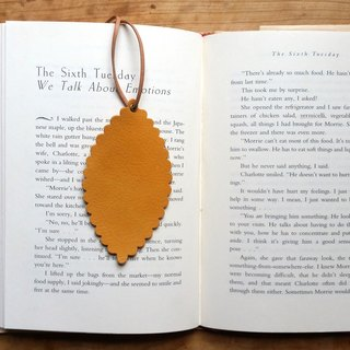 Leather Leather - travelers bookmarks / Charm / card (mustard yellow sheepskin) - Free custom English name / Sentence typewriting service