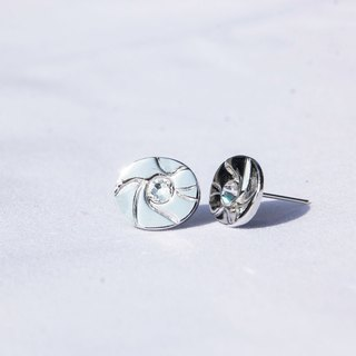 Natural series -Times -handmade silver earrings