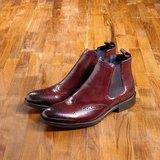 Vanger 優雅美型‧紳士經典卻爾西靴║Va181時髦棗紅
