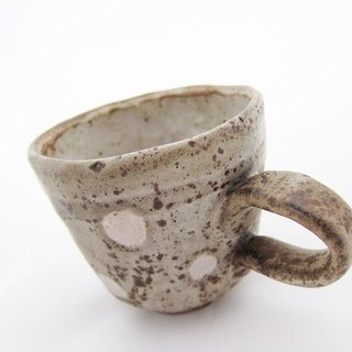 Polka dot mug, 7 oz.,handmade mug ,ceramic ,pottery,stuckwithclay