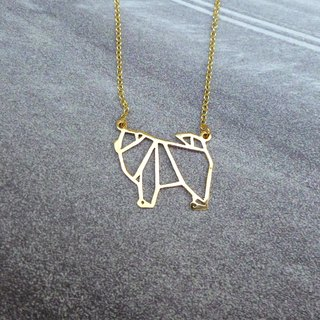 Glorikami Chow Chow Origami Necklace