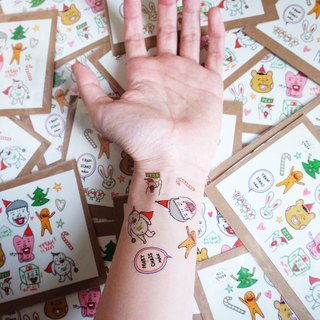 Christmas tattoo sticker