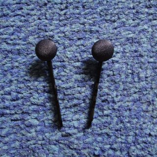 (C) Prussian blue _ cloth button small hair clip C20ASZ18