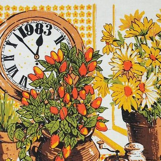 1983 American early cloth calendar clock