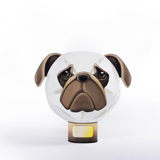 Geway | hold flap _ Animal Series Lighting Nightlight _ Pug _DIY_ teaching _ _ exchange Christmas gifts birthday _ _ _ graduation _ Valentine gifts
