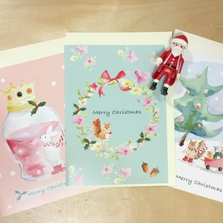 zoe's forest print Christmas cards three groups PinkoiXmas Christmas gifts