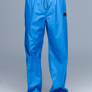 Paris Rainbow ~ lightweight wrap-around shoe rain pants / fresh blue