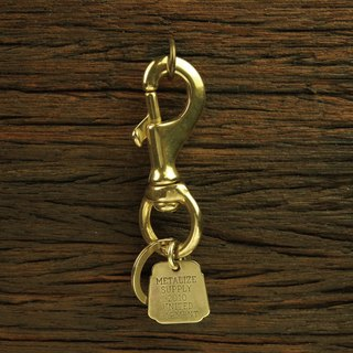 Basic Hook With Lucky Brass Tag Key Chain Charm basic large brass key ring hook