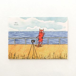 一個人 好生活 Postcard Illustration by Bigsoil