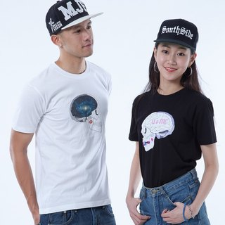 "Icarus ICARUS original fashion design short TEE Couple Series - ""Skeleton U AND ME"" couple models (free transport)"
