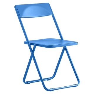 SLIM commander Chair Folding Chair _ thin / transparent blue (only commodity distribution Taiwan)