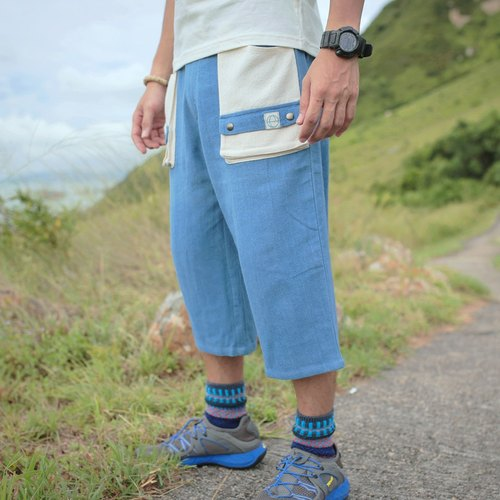 "EARTH.er  │""Summer Ninji"" Natural Dye Quarter Soft Pants │"