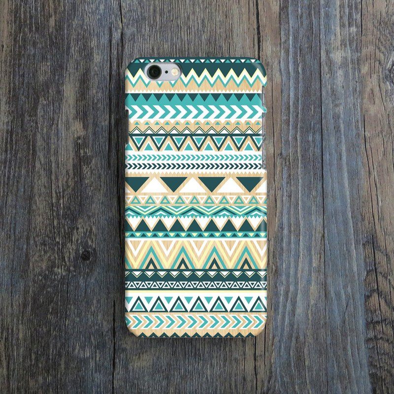Turquoise Tribal Geometric- Designer iPhone Case. Pattern iPhone Case. One Little Forest