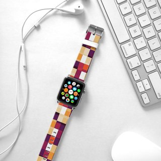 Apple Watch Series 1 , Series 2, Series 3 - Pixels Geometric Pattern Watch Strap Band for Apple Watch / Apple Watch Sport - 38 mm / 42 mm avilable