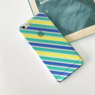 Diagonal Stripes Blue Green Yellow Print Soft / Hard Case for iPhone X,  iPhone 8,  iPhone 8 Plus, iPhone 7 case, iPhone 7 Plus case, iPhone 6/6S, iPhone 6/6S Plus, Samsung Galaxy Note 7 case, Note 5 case, S7 Edge case, S7 case