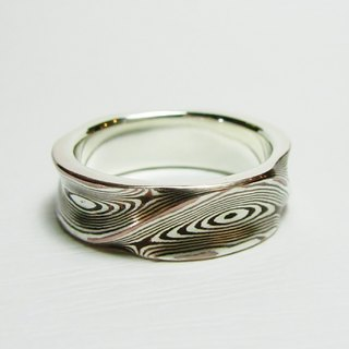 Element 47 Jewelry studio~ mokume gane ring  25  (silver/copper)