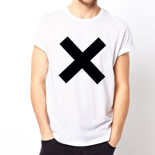 X basic T-shirt -2 color skewer XX triangle geometric design affordable fashion Wen Qing
