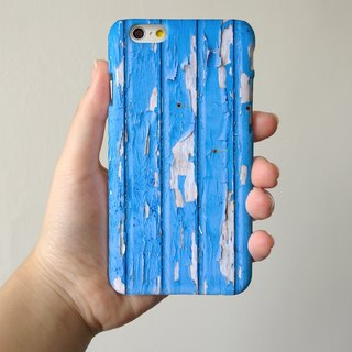 Print Wood Pattern Blue be3 3D Full Wrap Phone Case, available for iPhone 7, iPhone 7 Plus, iPhone 6s, iPhone 6s Plus, iPhone 5/5s, iPhone 5c, iPhone 4/4s, Samsung Galaxy S7, S7 Edge, S6 Edge Plus, S6, S6 Edge, S5 S4 S3  Samsung Galaxy Note 5, Note 4, Note
