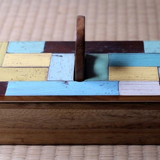 Collage wooden box / Small A