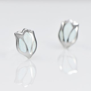 [Wonderland] Tulip 925 Silver Earrings - Ice Blue