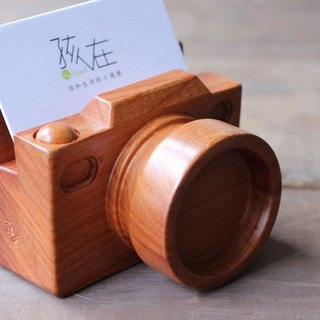 Mini wooden camera ▣ Namecard holder