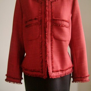 Small fragrant wind jacket - Rose Red