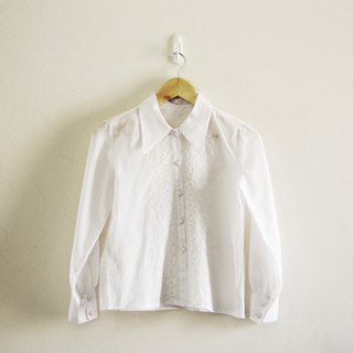 Spend vintage | Nippon white embroidered shirt