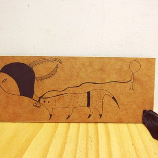 Bigheadedness girl daily Universal bookmark - to travel papers with elk