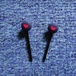 (C) _ Little Love cloth buttons small hairpin C20ASZ01
