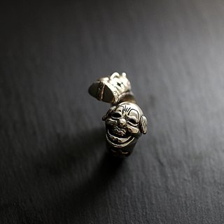 Mask sterling silver clown mask ring