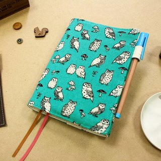 A6 / 50K hand-adjustable cotton cloth clothing - Lake Owl (blue)