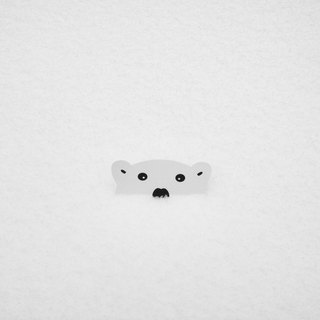Peeping Bear Sticker - Polar Bear •ᴥ•
