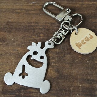【Peej】'Gimme Three' Stainless Steel Keychain Valentines
