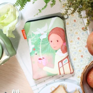 Tea Time / illustration 000 packets - large (NDSL, portable hard disk storage bag)