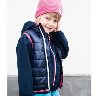 [Nordic children's clothing] Sweden functional waterproof microfiber cotton vest pink