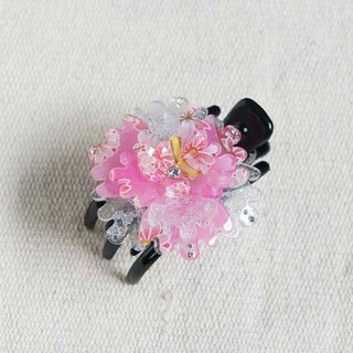 Thousands of cherry blossoms, peony, three claw clip, clip clip - powder