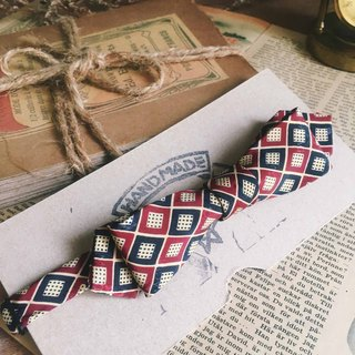 Papa's Bow Tie- restructuring antique handmade cloth flowers tie tie - Prague gentleman prague gentleman- red - a narrow version of Valentine