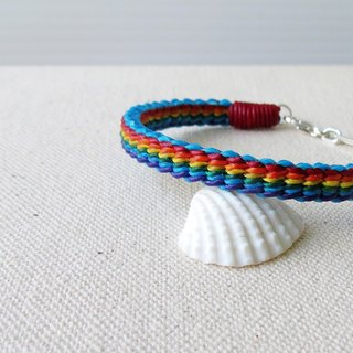 Sterling Silver ****fashion lucky pray Rainbow silk wax line bracelet**** Eighteen shares with gift box