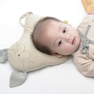 [KAKIBABY] patent natural persimmon dyeing - cat special infant head pillow shape