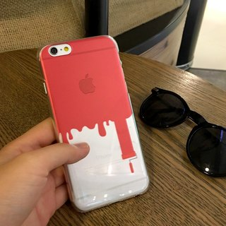 Painter Red Print Soft / Hard Case for iPhone X,  iPhone 8,  iPhone 8 Plus, iPhone 7 case, iPhone 7 Plus case, iPhone 6/6S, iPhone 6/6S Plus, Samsung Galaxy Note 7 case, Note 5 case, S7 Edge case, S7 case