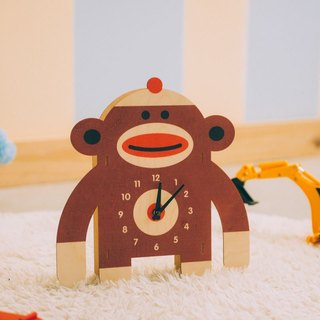 modern moose-3D wall clock-sock monkey clock