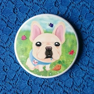 Pocket Mirror-Pug's French Bulldog Friend Zai Zai loves sweet potatoes.