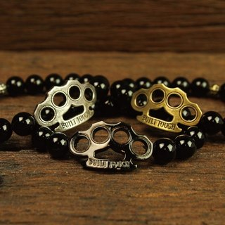 [METALIZE] Brass Knuckles 10MM Beaded Bracele Finger Tiger 10mm Beaded Bracelet