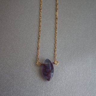 Purple tourmaline necklace