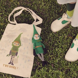 Two hands two hands! Green Post refined Tote