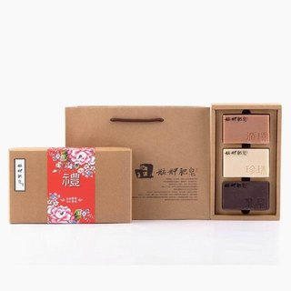 【Monga soap】 traditional saffron gift box - recycled soap + pearl soap + purple grass soap - gifts / gifts / gifts / hand soap gift box / Year gift box